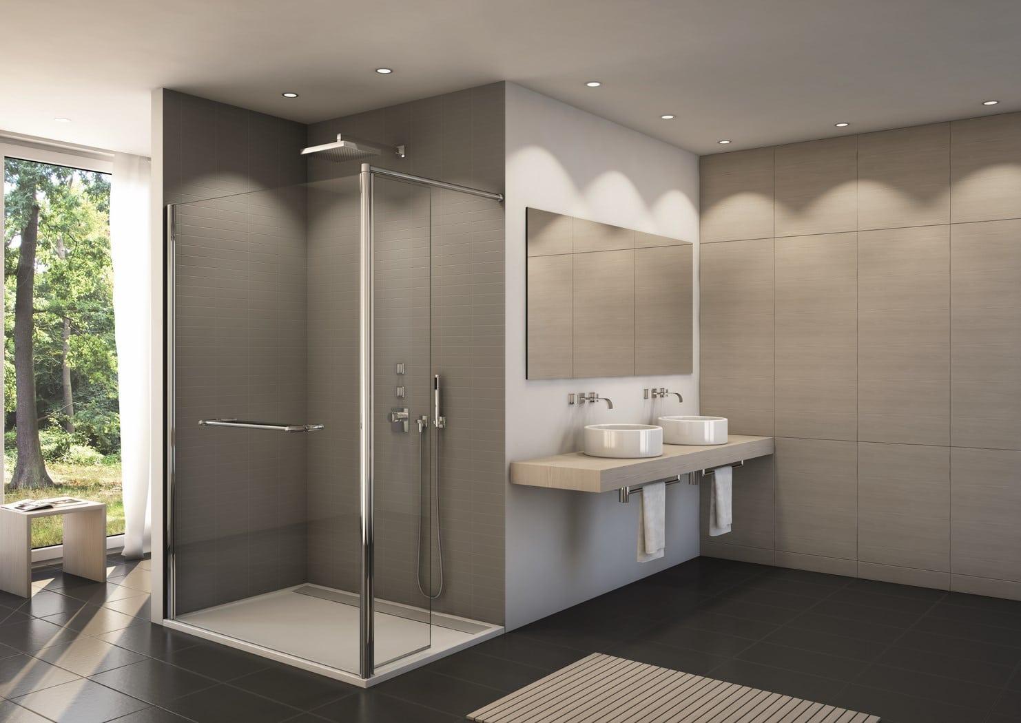 Paroi de douche sur mesure sur bruxelles vitraco - Porte douche sur mesure ...